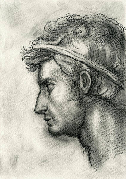 Wall Art - Painting - Julius Caesar Study by Juan Bosco