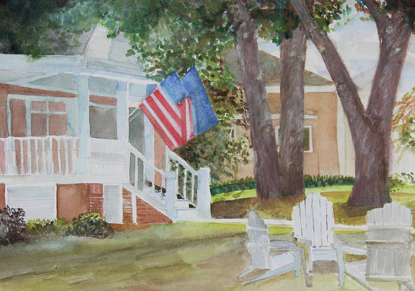 Wall Art - Painting - July 4th by Janice Buehring