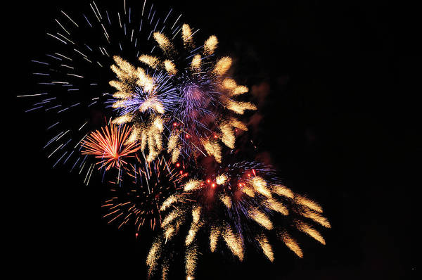 Photograph - July Fourth Fireworks by Greg Norrell