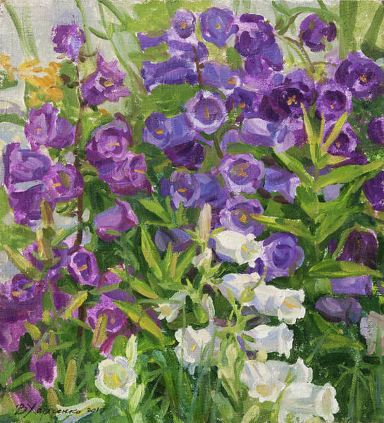 Wall Art - Painting - July Garden by Victoria Kharchenko