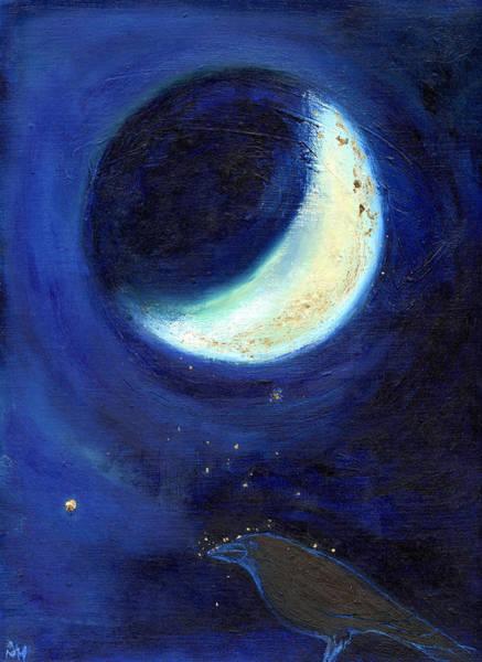 Feather Stars Wall Art - Painting - July Moon by Nancy Moniz