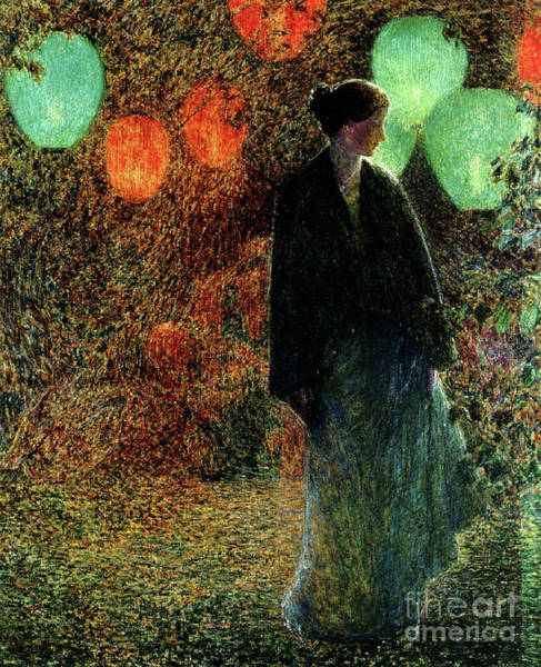 Chinese Girl Wall Art - Painting - July Night by Childe Hassam