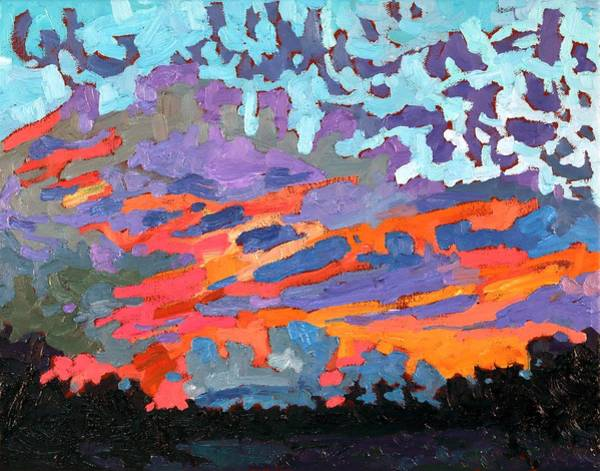 Wall Art - Painting - July Sunrise 2016 by Phil Chadwick