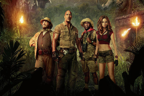 Dwayne Johnson Wall Art - Drawing - Jumanji Welcome To The Jungle 2.0 by Movie Poster Prints
