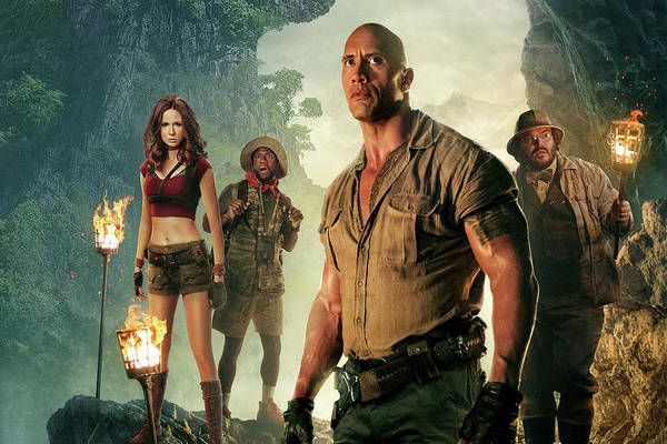 Dwayne Johnson Wall Art - Mixed Media - Jumanji Welcome To The Jungle by Movie Poster Prints