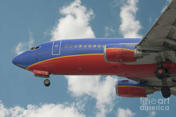 Photograph - Jumbo Jet On Final Approach by Dale Powell