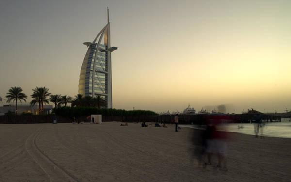 Photograph - Jumeira Beach And Burj Al Arab Hotel Dubai by Alexandre Rotenberg