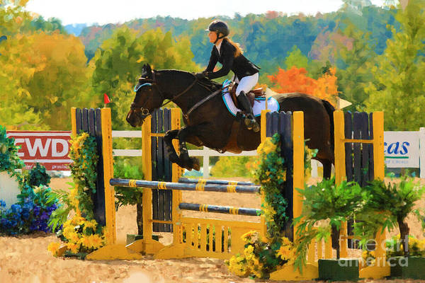 Photograph - Jumper Watercolour by Life With Horses