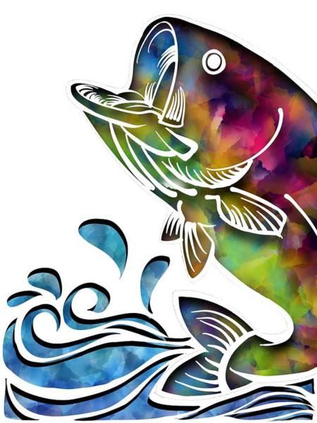 Digital Art - Jumping Bass by Lisa Schwaberow