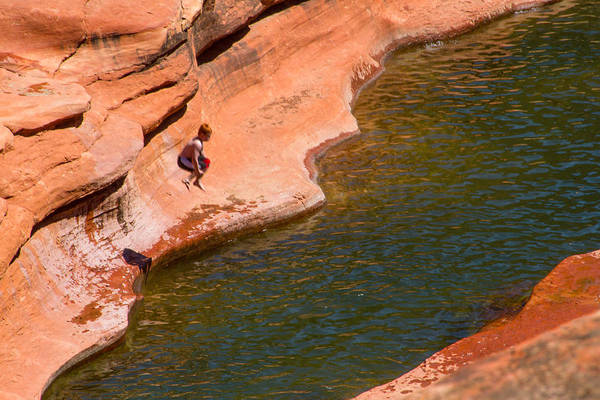 Photograph - Jumping From Slide Rock by Bonnie Follett