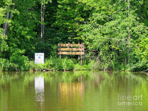 Wall Art - Photograph - Junction Of The Erie Canal And The Oswego Canal by Louise Heusinkveld