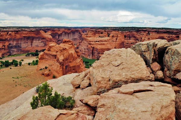 Photograph - Junction Overlook Canyon De Chelly National Monument Landscape by Kyle Hanson