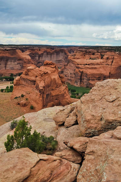 Photograph - Junction Overlook Canyon De Chelly National Monument Portrait by Kyle Hanson
