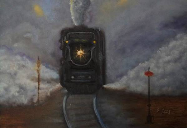 Stephen King Painting - Junction by Stephen King