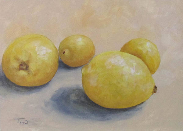 Wall Art - Painting - June Lemons by Torrie Smiley