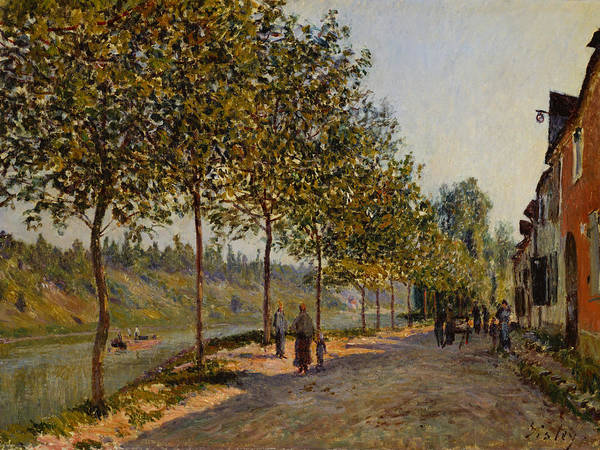 Painting - June Morning In Saint Mammes by Alfred Sisley