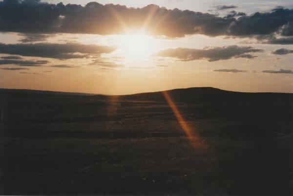 June Sun Rays North Dakota Art Print by Gene Linder