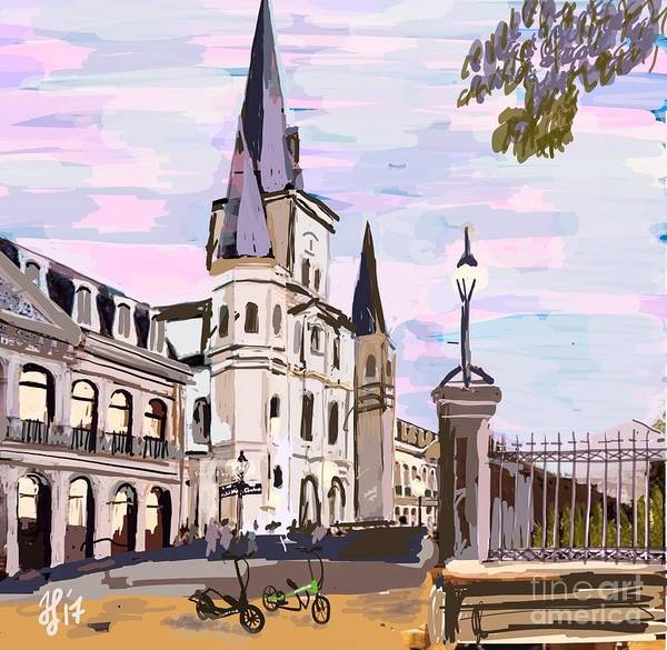 Painting - June, Where In The World Is My Elliptigo? by Francois Lamothe