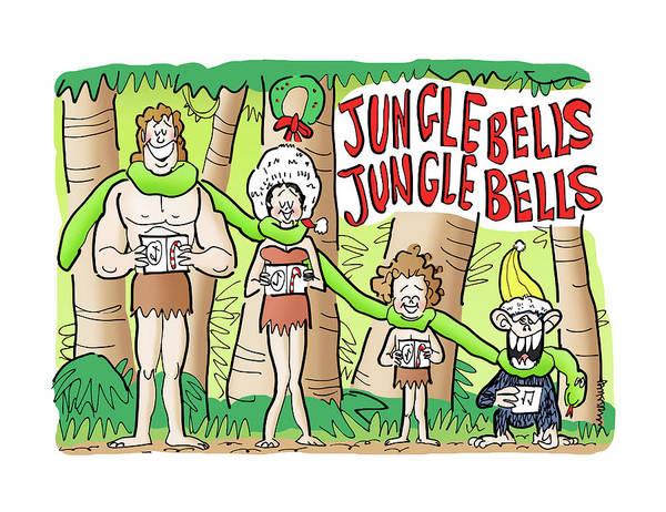 Wall Art - Digital Art - Jungle Bells by Mark Armstrong