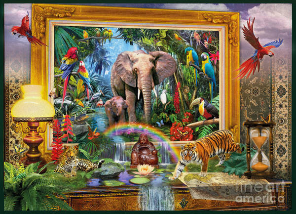 Parrot Digital Art - Jungle Coming by MGL Meiklejohn Graphics Licensing