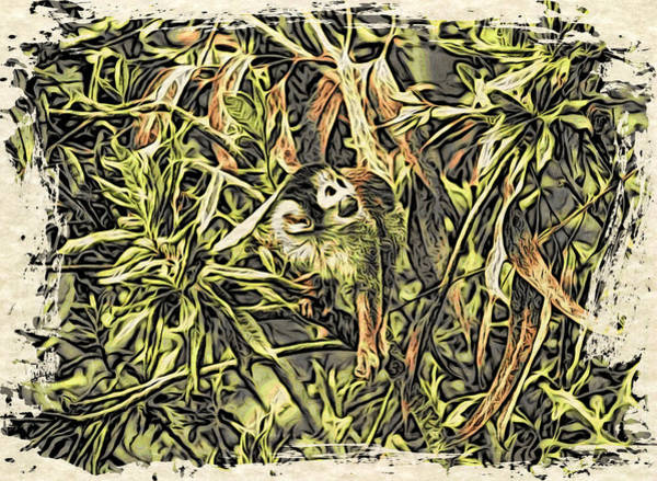 Digital Art - Jungle George by Cameron Wood