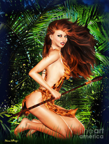 Digital Art - Jungle Girl by Alicia Hollinger