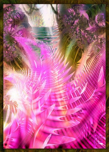 Palm Frond Digital Art - Jungle Jane by Tina Lavoie