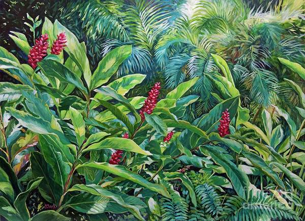 Tropic Painting - Jungle by John Clark