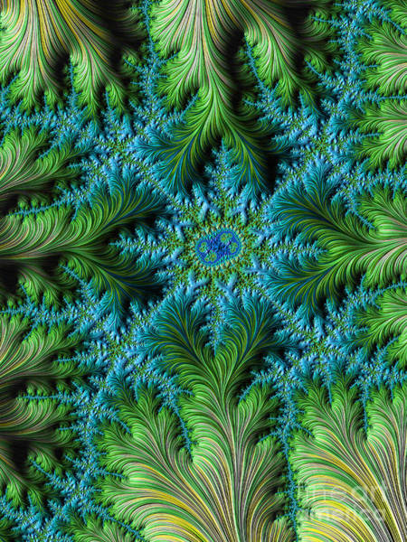 Digital Art - Jungle Meets Sea Fractal by Dee Flouton