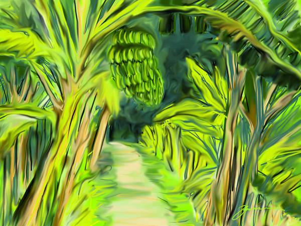 Digital Art - Jungle Path by Jean Pacheco Ravinski