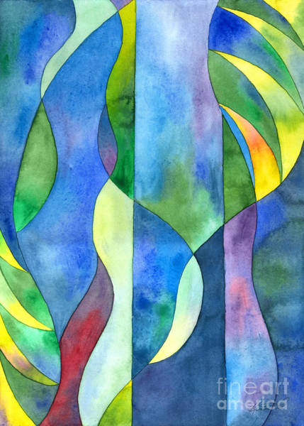 Painting - Jungle River Abstract by Kristen Fox