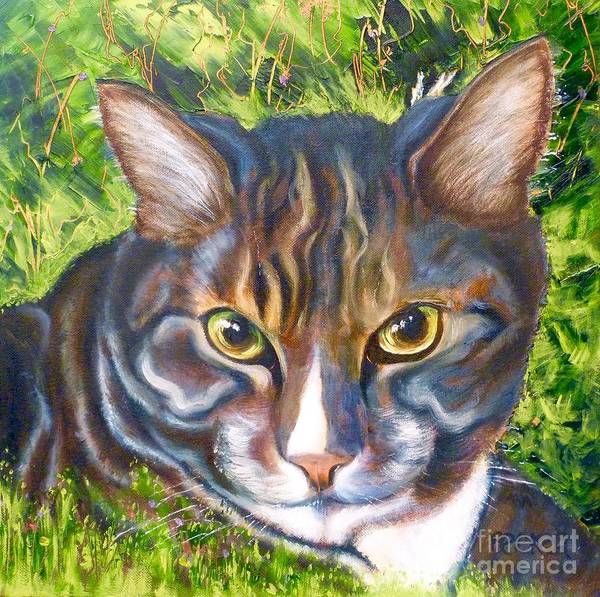 Wall Art - Painting - Jungle Tabby by Susan A Becker