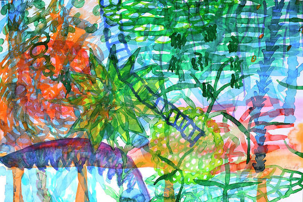 Clarity Painting - Jungle View With Rope Ladder by Heidi Capitaine