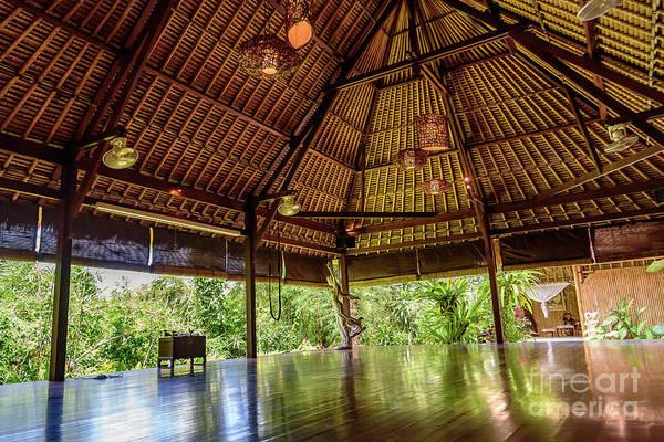 Photograph - Jungle Yoga Shala At Yoga Retreat In Ubud, Bali by Global Light Photography - Nicole Leffer