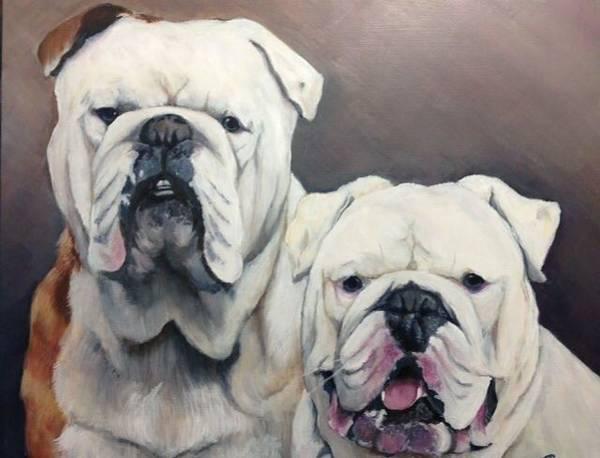 English Bulldog Painting - English Bulldogs  by FayBecca