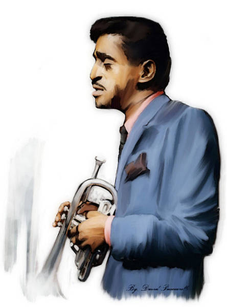 Painting - Junior Cool  Sammy Davis, Jr.  by Iconic Images Art Gallery David Pucciarelli
