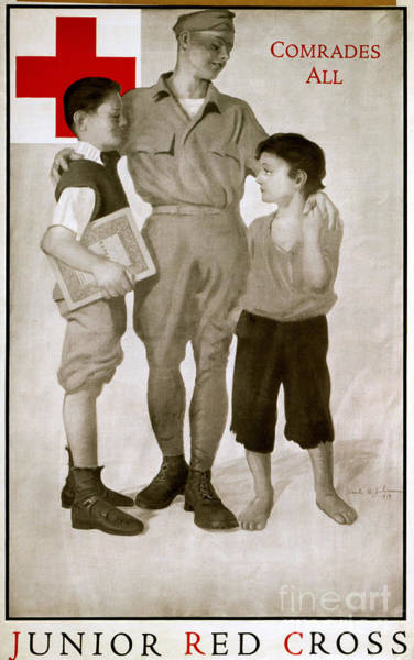 Photograph - Junior Red Cross Poster by Granger