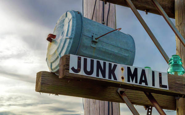 Glass Insulator Photograph - Junk Mail by Brian Wallace