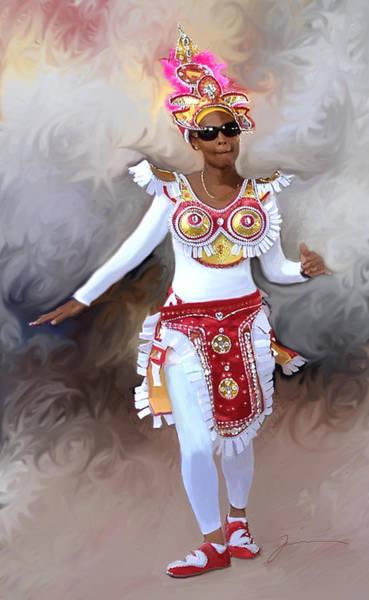Bahamas Digital Art - Junkanoo by Jean Pacheco Ravinski