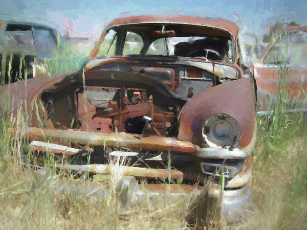 Digital Art - Junked 1953 Chrysler Windsor Deluxe by David King