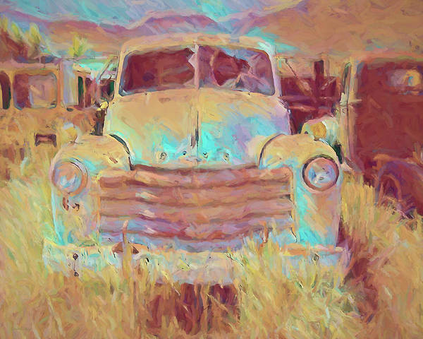 Rusty Truck Digital Art - Junked Chevy by David King