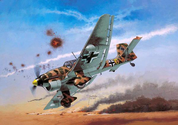 Junkers Digital Art - Junkers Ju 87 by Dorothy Binder