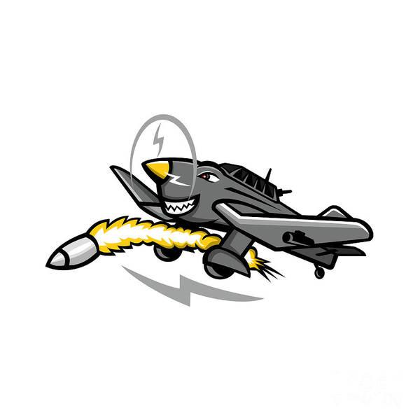 Junkers Digital Art - Junkers Ju 87 Stuka Dive Bomber Mascot by Aloysius Patrimonio
