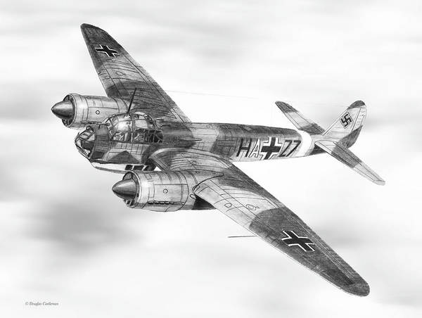 Drawing - Junkers Ju-88a by Douglas Castleman