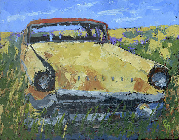 Painting - Junkyard Packard by David King