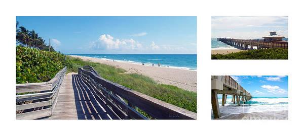 Photograph - Juno Beach Florida Seascape Collage 1 by Ricardos Creations