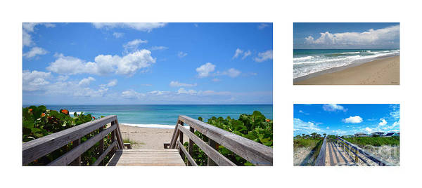 Photograph - Juno Beach Florida Seascape Collage 4 by Ricardos Creations