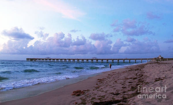 Photograph - Juno Beach Pier Florida Sunrise Seascape C7 by Ricardos Creations