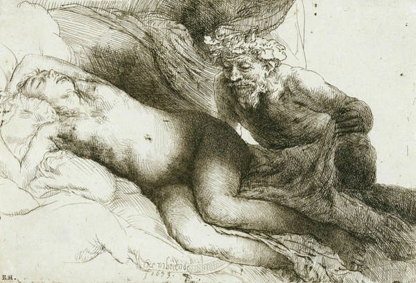 Relief - Jupiter And Antiope by Rembrandt