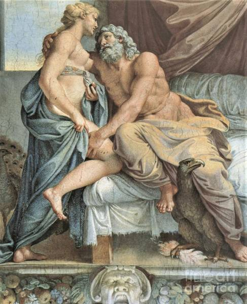 Wall Art - Painting - Jupiter And Juno by Pg Reproductions